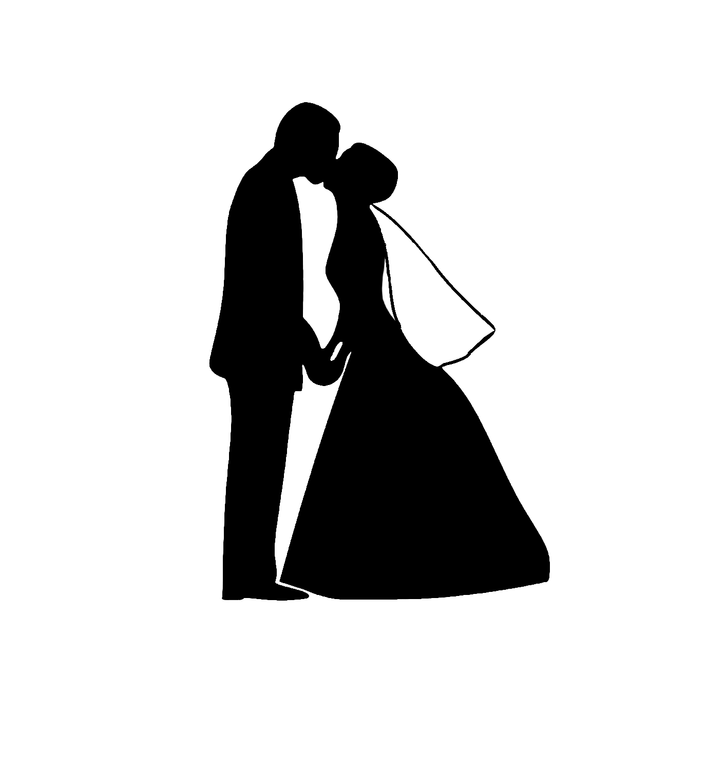 Vintage Bride And Groom Silhouette Amazing Ideas 9 On Cake Wedding